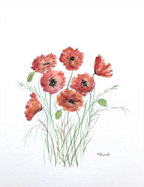 Joyful poppies  by Monika Howarth