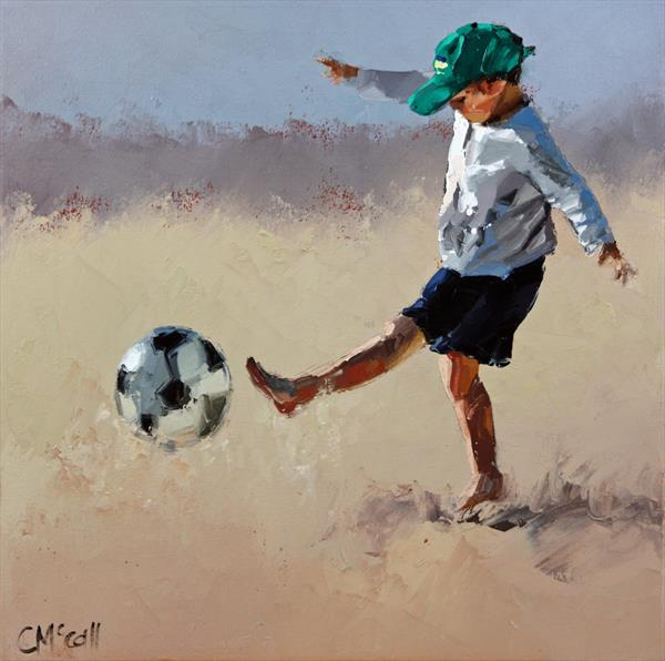 'Ready.....Set.....Kick III' Limited Edition Giclee Art Print  by Claire McCall