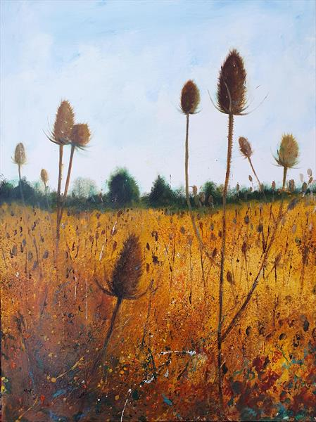 Field of Teasels by Teresa Tanner