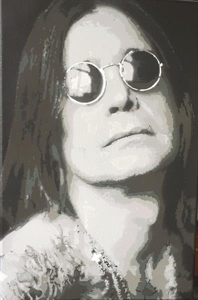 Ozzy 10 layer handcut Stencil  by Muttley(Ian) Stencil artist