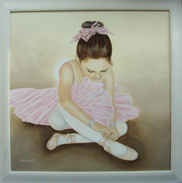 Little Ballerina (With Frame) by Kerri Nathwani