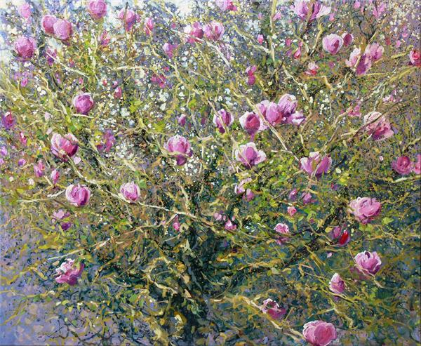 Magnolia (On Display At the Art Gallery, Tetbury) by Mariusz Kaldowski