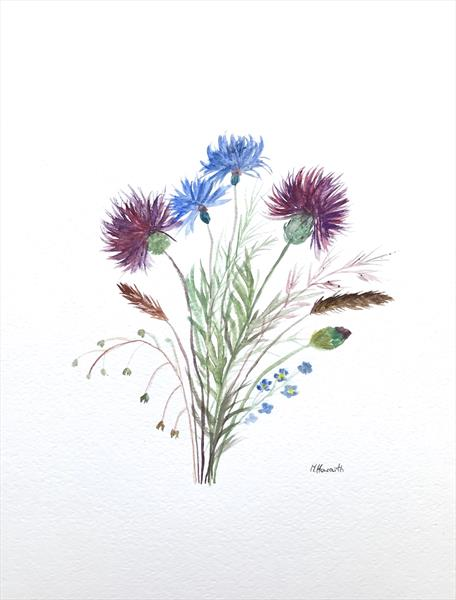 Wild flowers bouquet no.2 by Monika Howarth