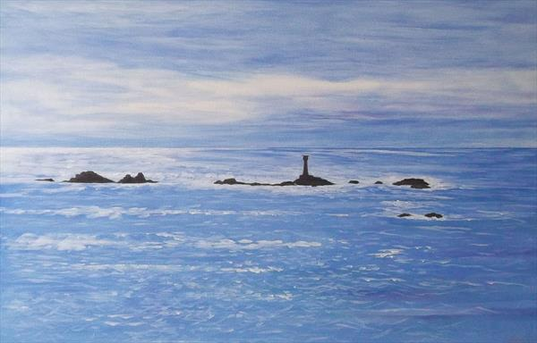 Longships Lighthouse, Land's End, Cornwall by Sally Ann Barclay