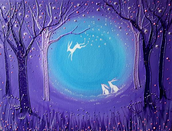 Flight of the Spirit Hare by Angie Livingstone