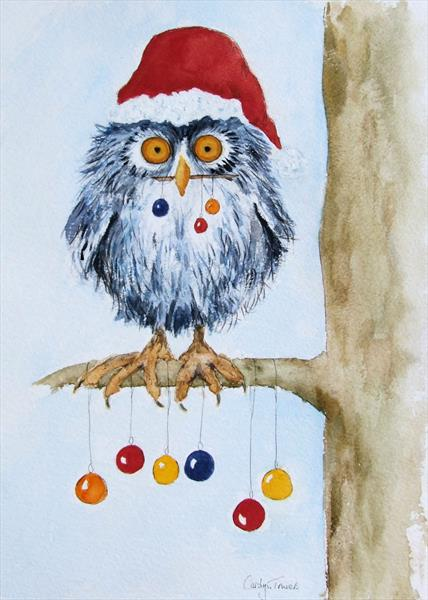 Christmas Owl by Carolyn Towers