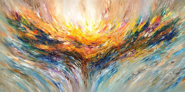 Positive Energy XXXL 1 / very large painting, unstretched