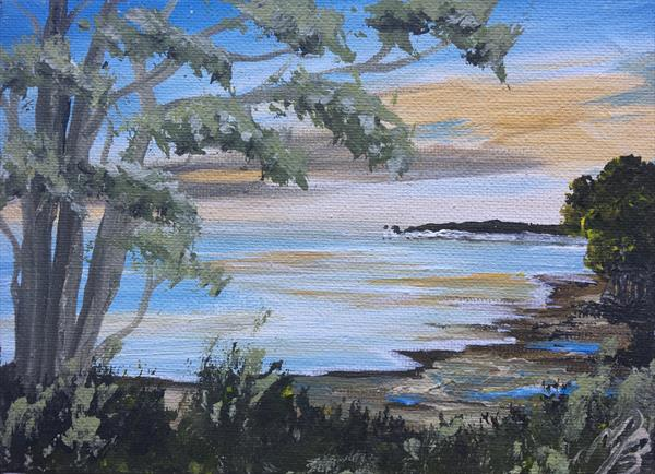 Studland on a mini canvas by Marja Brown
