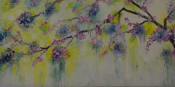 Gorgeous Mixture Of Mauve And Pink (Panoramic) by Hester Coetzee