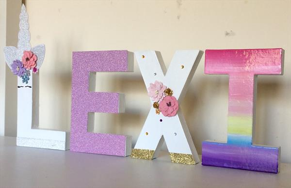 Unicorn personalised  letters by Tracy Jolly