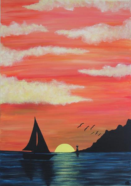 Sailing under Golden Skies by Kimi Newbery