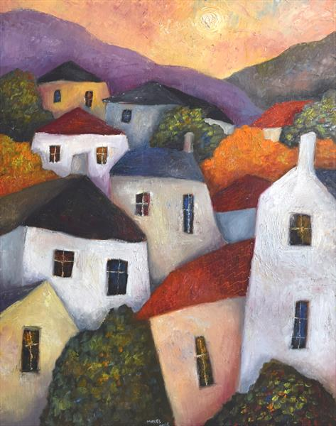 Valley Houses and Trees by Jeremy Mayes