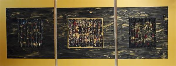Intertwined: Black Gold, Gold and Crimson by Martin Rolt