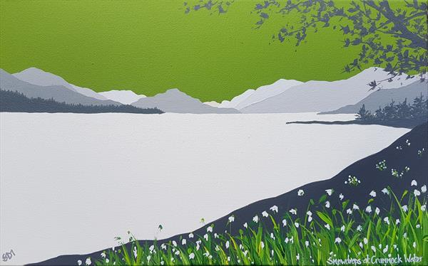 Snowdrops at Crummock Water, The Lake District by Sam Martin