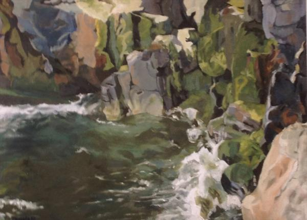 Novahal Cove, County Cork by Pamela  Riddoch