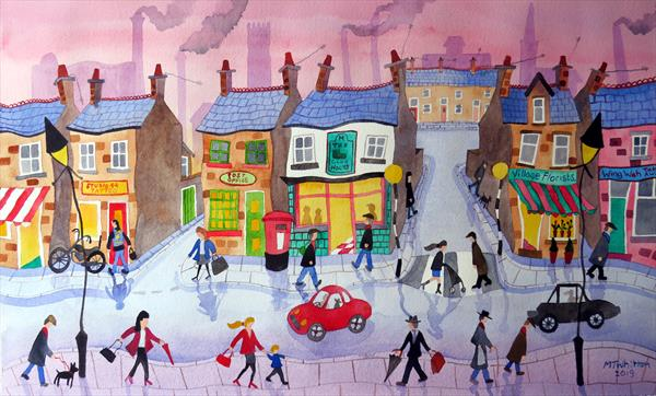 Its Busy in Town Today by Martin Whittam