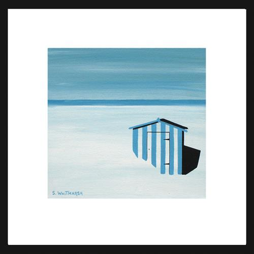 Blue Beach Hut by Suzanne Whitmarsh