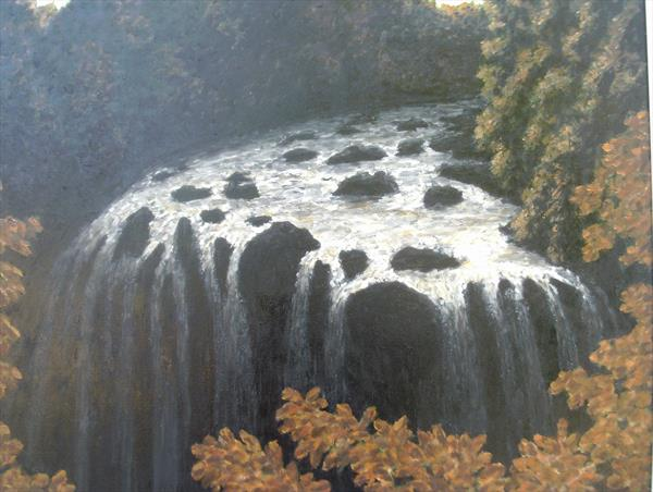 The Swallow Falls in Autumn. by Raymond Warrillow
