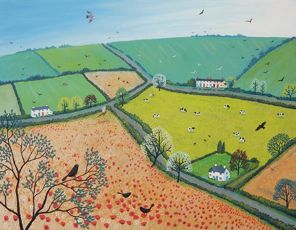 The View from Poppy Hill 2 (Reserved for Danny) by Josephine Grundy