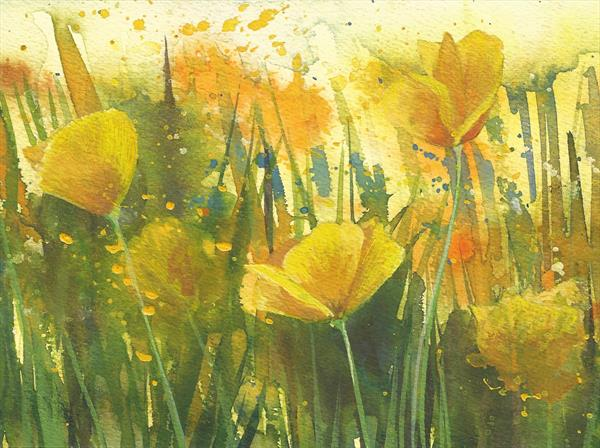 Yellow Poppies by Tracy Butler