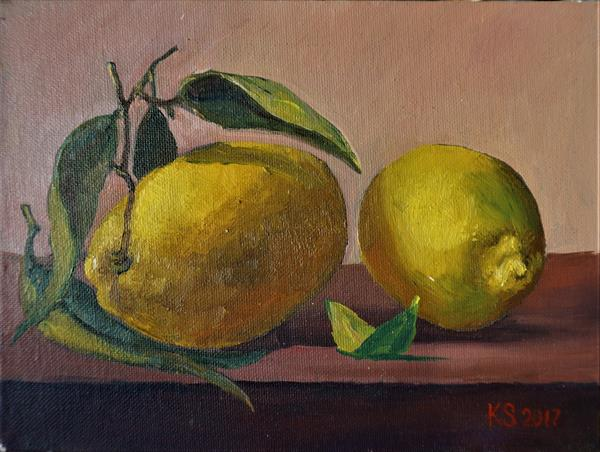Still Life with citrons by Sergej Karetnikov