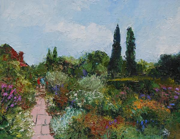 Borders At Sissinghurst, Kent by Brian Hanson