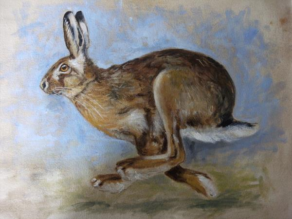 Running Hare by Wendy Sabine