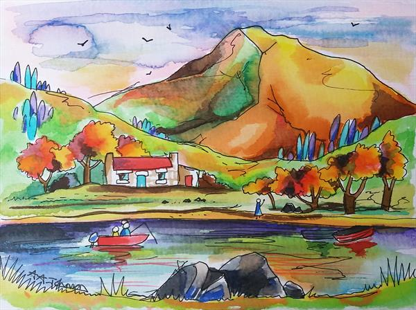 Autumn Loch by Andrew Alan Johnson