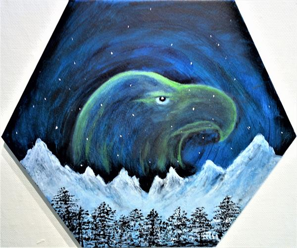 Eagle Spirit in the Night Sky by Joanne Tharby-Hammond