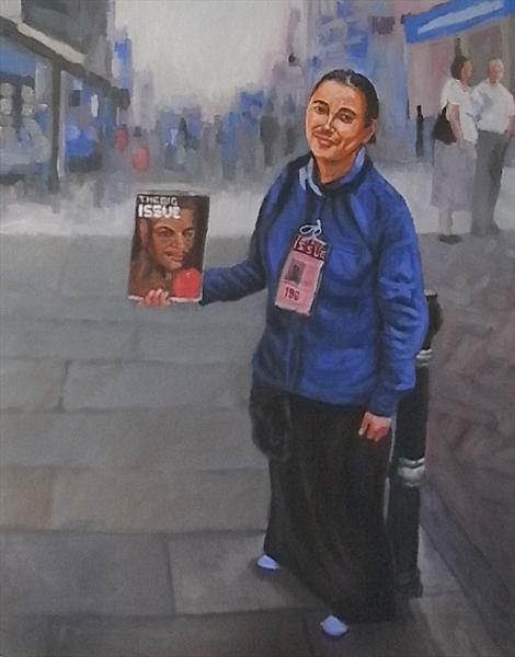 Big Issue Seller, Evesham by Mike Bagshaw