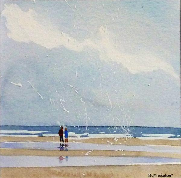 Beach Scene 6 by Barbara Fletcher