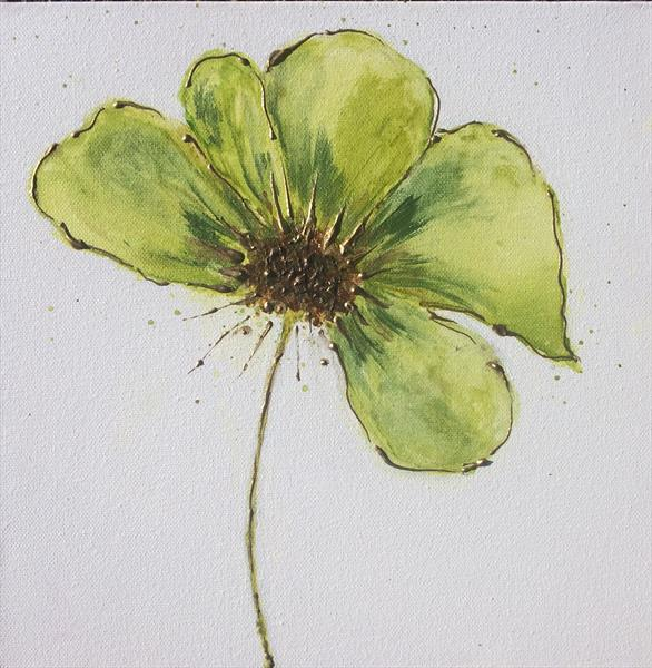 Green Flower by Tracy Jolly