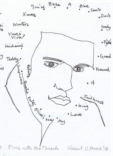 Drawing Project: Elvis with the Tassels by Vincent da Vinci