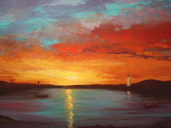 Harbour Sunset by Wendy Puerto