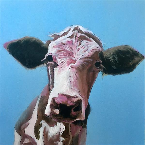 Pink cow by Paul Hardern