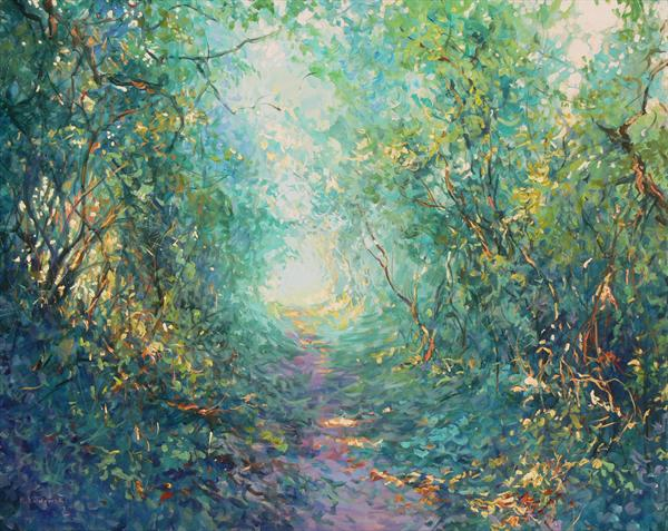 Enchanting Pathway (On Display At the Art Gallery, Tetbury) by Mariusz Kaldowski