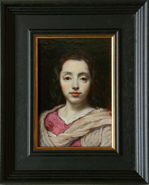 'Portrait Of A Young Girl' after Jacob Van Oost by John Afflick