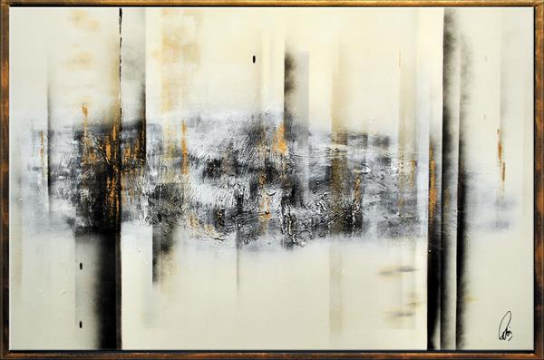 Cold Elegance - Abstract Art - Acrylic Painting - Canvas Art - Framed Painting - Abstract Painting  by Edelgard Schroer