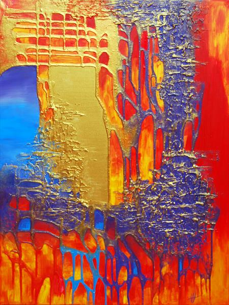 ABSTRACT ART - PURE HAPPINESS by Ada Van