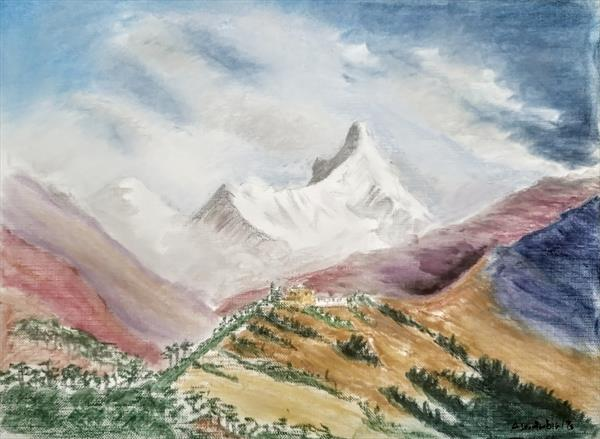 In The Shadow Of Mountain by Artistic Biplob (Asm Ambia)
