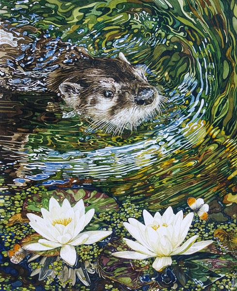 Otter Coming To Pond Near You by Rhian Symes