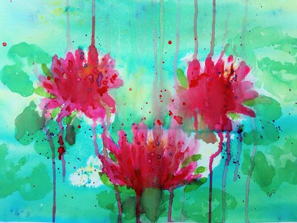 Water lilies by Sue  Mobbs
