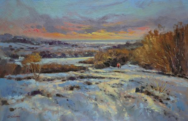 Sunset Over Thurstaston, Wirral by David Shiers
