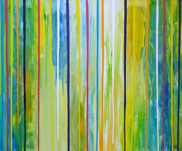 Spring Feeling (Large Contemporary Art) by Hester Coetzee