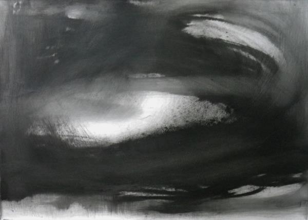 Abstraction in Monochrome' Light in the Darkness 1 ' by Wendy Hyde