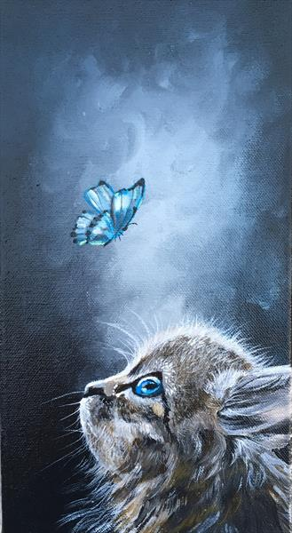 The Kitten and the Butterfly  by Jude Cottrell