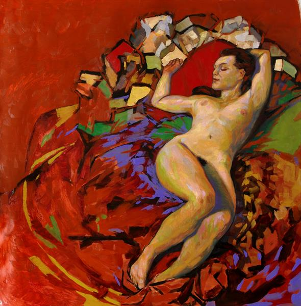 modern painting of a nude by olivier payeur