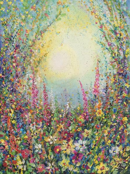 Colourful Meadow I  by Janice  Rogers