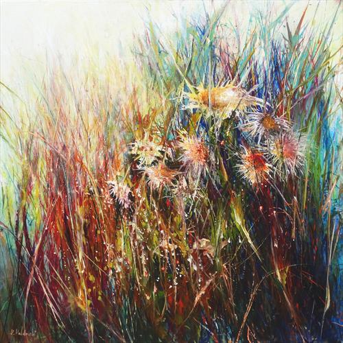 Colours of Nature (LARGE) (on display at the Art Gallery, Tetbury) - RESERVED FOR  R. AND S. H. by Kasia Kaldowski
