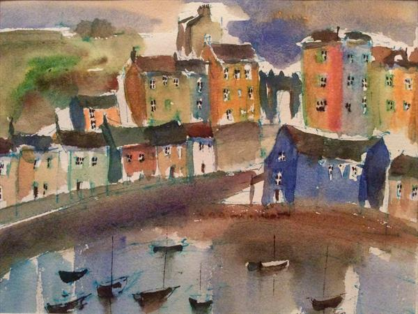 TENBY HARBOUR COLOURS  by Roma Mountjoy